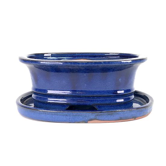 20 x 15 x 8 cm bleu inclus soucoupe  A18