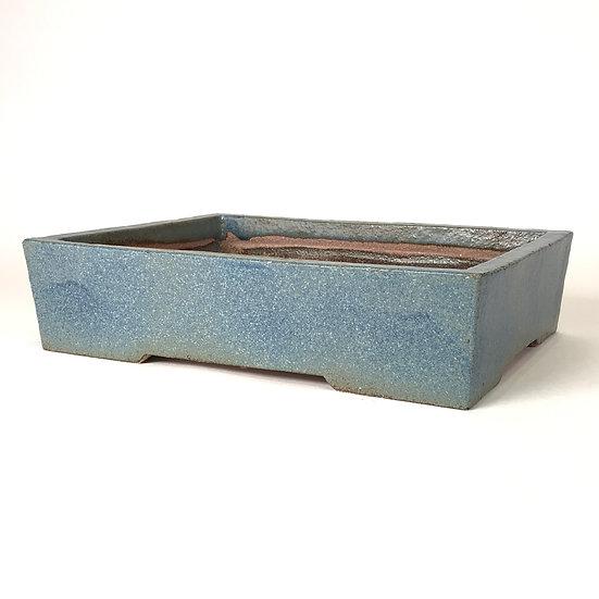 27 x 21 x 6 cm Céramique artisanale unique Bleu