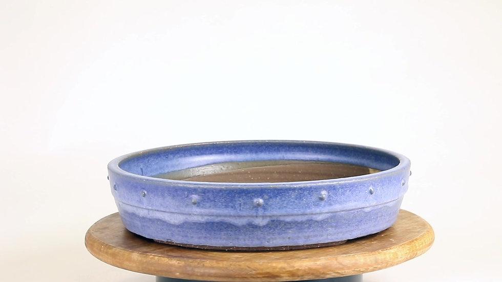 29 x 29 x 6 cm Céramique unique bleu
