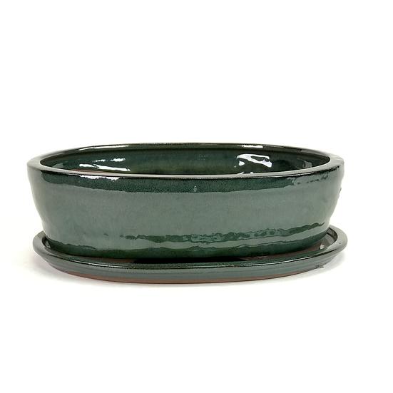 27 x 21 x 7 cm Verte Inclus soucoupe
