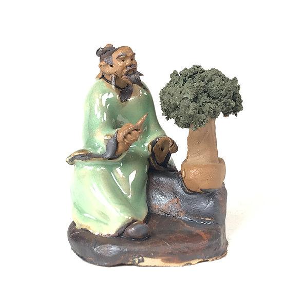 "FIGURINE ""Bonsaika Vert"" 6,5 cm de hauteur en terre cuite"