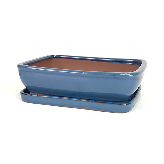25 x 20 x 7 cm  Bleu inclus soucoupe  A72