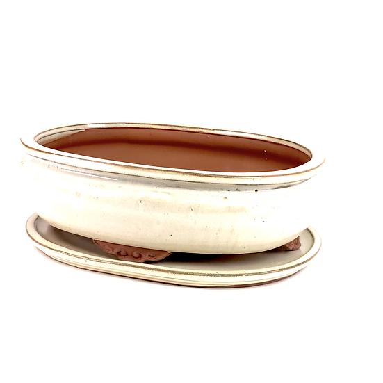 32 x 25 x 9 cm ivoire inclus soucoupe