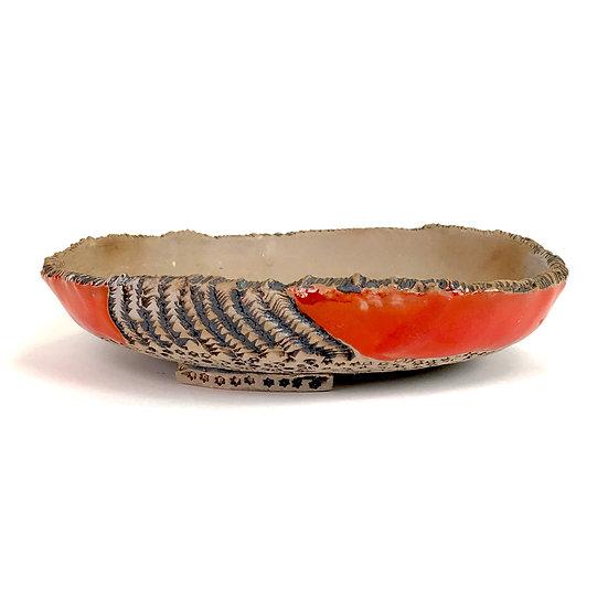 22 x 22 x 5 cm Céramique artisanale P. TORCATIS