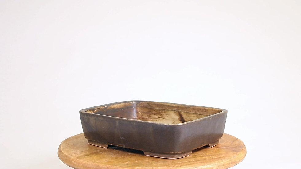 23 x 18 x 6 cm Céramique artisanale unique marron R57B