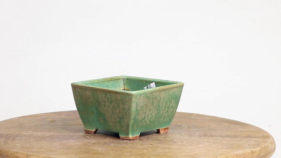 10 x 10 x 5 cm Céramique artisanale unique Verte clair