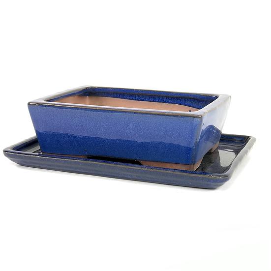 19 x 14 x 6 cm Bleu Inclus soucoupe