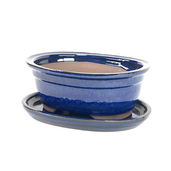 21 x 18 x 8 cm Bleu inclus soucoupe