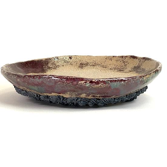 27 x 27 x 6 cm Céramique artisanale unique de Philippe TORCATIS