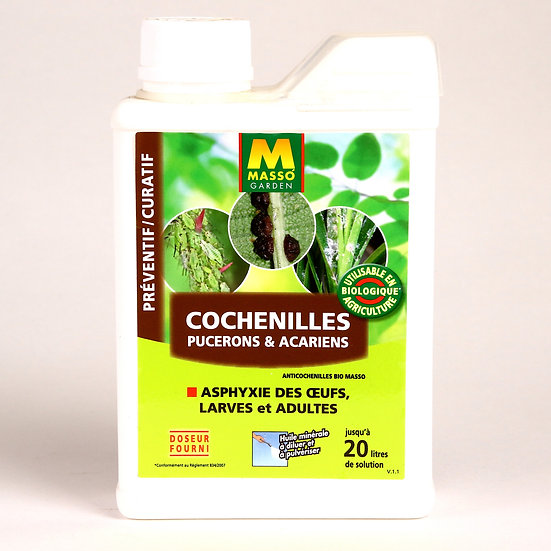 ANTI cochenilles, acariens, pucerons Préventif et curatif 500 ml