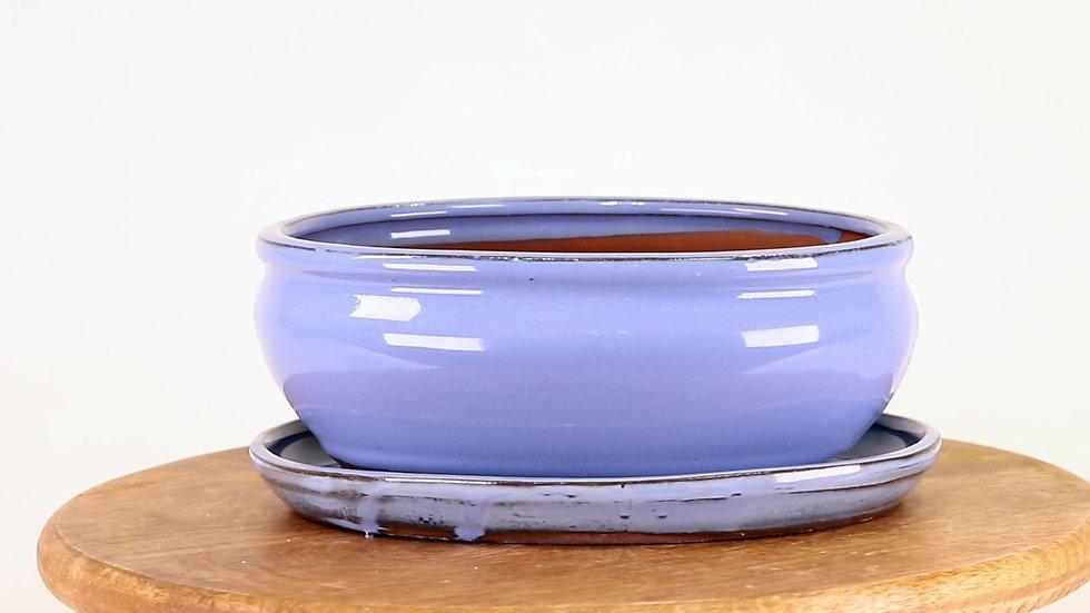 20 x 16 x 8 cm bleu ciel inclus soucoupe