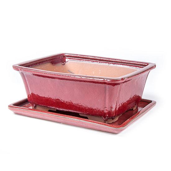 26 x 21 x 9 cm rouge Inclus soucoupe