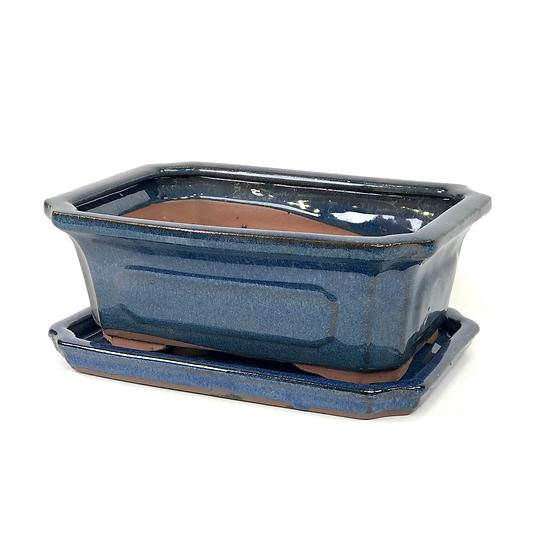21 x 15 x 7 cm Bleu inclus soucoupe