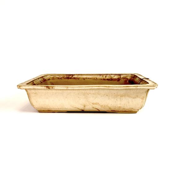 27 x 19 x 6 cm Céramique artisanale unique marron Rèf R793D