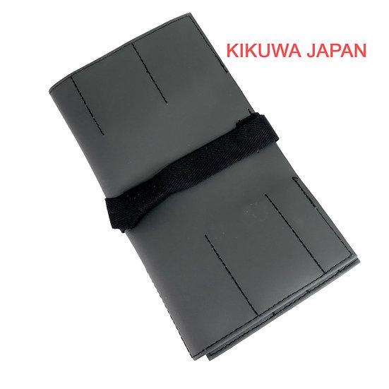TROUSSE DÉROULANTE japonaise en cuir 45 x 27 cm KIKUWA Ref 1197