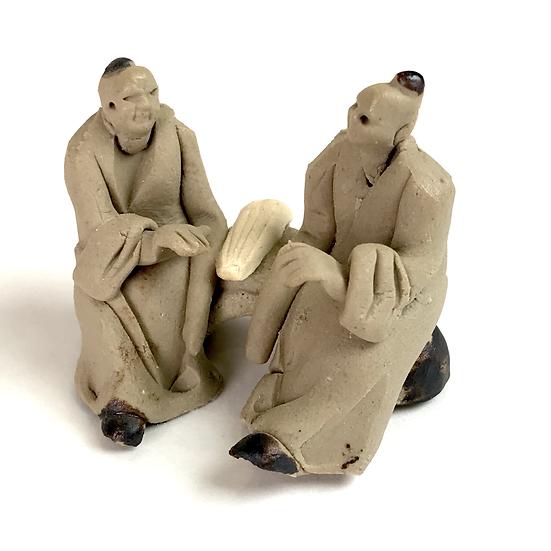 Duo 'Mandoline' de 3 cm de hauteur FIGURINE en terre cuite