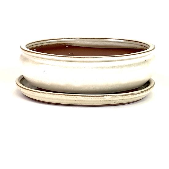 22 x 18 x 7 cm ivoire inclus soucoupe