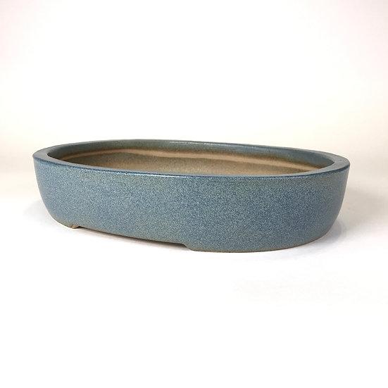 29 x 23 x 6 cm Céramique artisanale unique Bleu