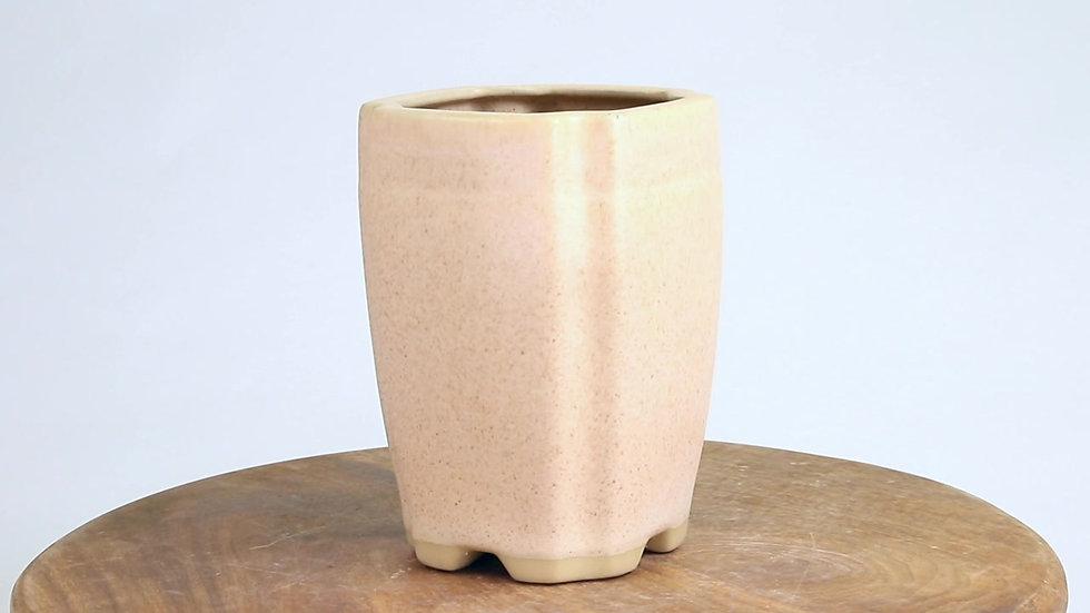 10 x 10 x 14 cm Céramique artisanale unique beige