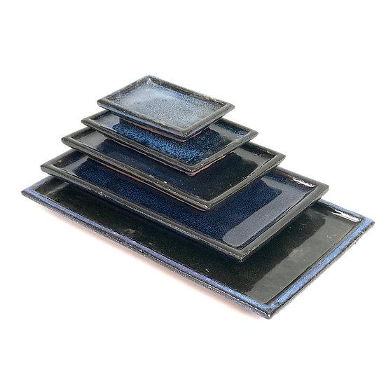 Soucoupe en céramique Bleue 14 x 9,5 cm