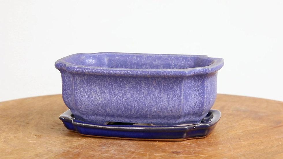 12 x 9 x 5 cm Céramique unique Bleu R1295A