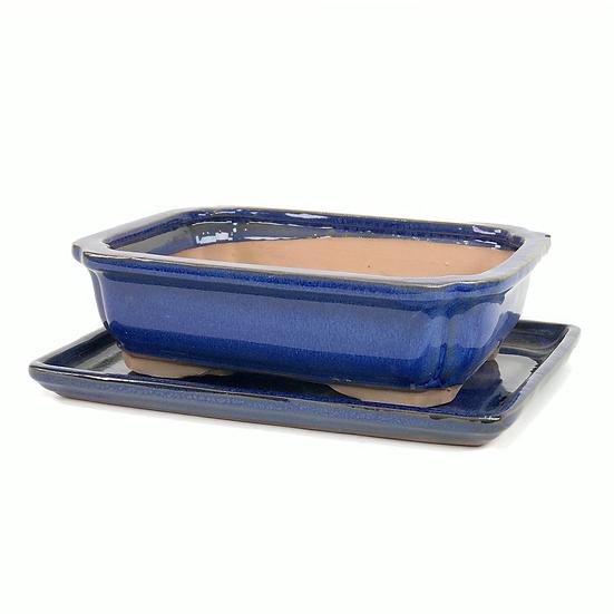 22 x 16 x 6 cm Bleu Inclus soucoupe