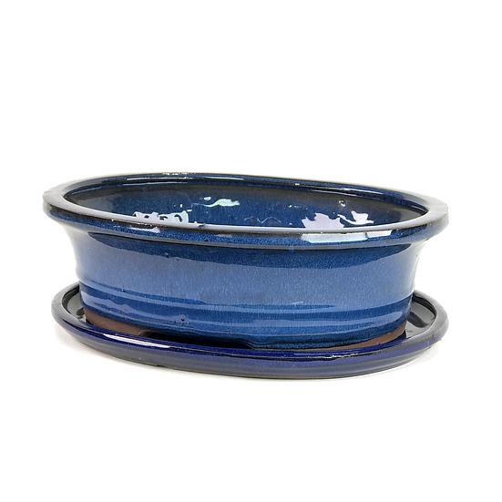 27 x 22 x 8 cm Bleu Inclus soucoupe