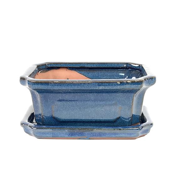 15 x 11 x 6 cm Bleu inclus soucoupe