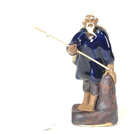 Pêcheur Bleu de 8,5 cm de hauteur FIGURINE en terre cuite
