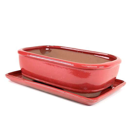 26 x 19 x 8 cm rouge inclus soucoupe
