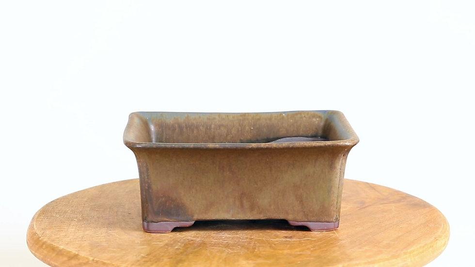 18 x 14 x 17 cm Céramique unique marron clair