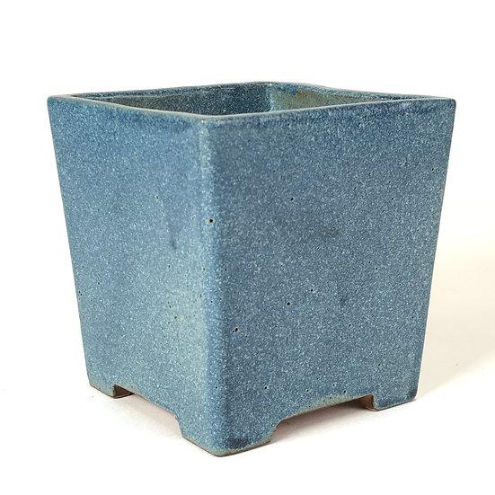 11 x 11 x 12 cm Céramique artisanale unique Bleu