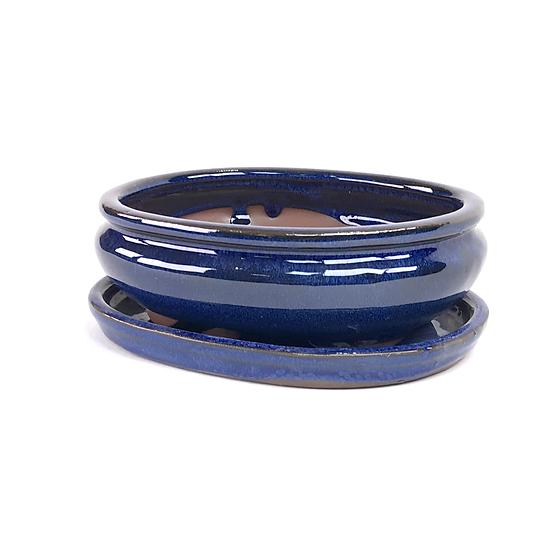 16 x 13 x 5 cm Bleu inclus soucoupe