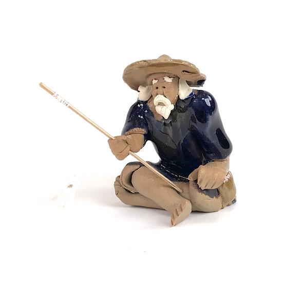 Pêcheur Bleu de 6 cm de hauteur Terre cuite