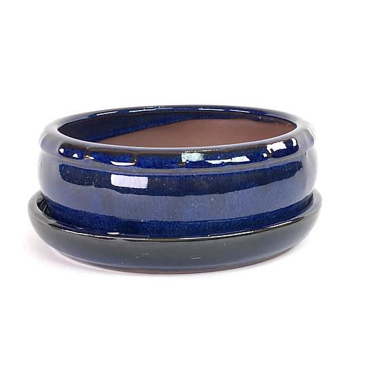 16 x 16 x 6 cm Bleu Inclus soucoupe