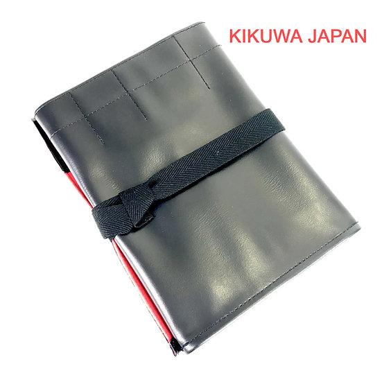 TROUSSE DÉROULANTE japonaise en cuir 60 x 25/40 cm KIKUWA Ref 1198