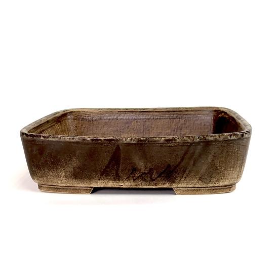 23 x 19 x 5 cm Céramique artisanale unique marron  R57A