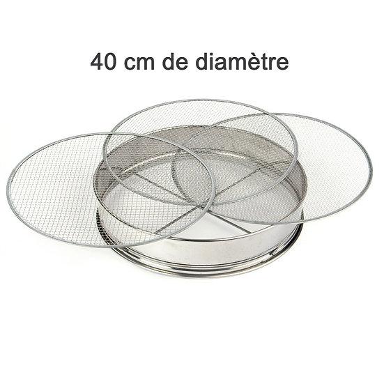 TAMIS INOX de 40 cm de diamètre + 3 Tamis - Japon
