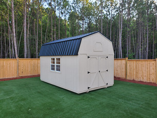 Lofted Barn, Metal Roof, T1-11 Siding