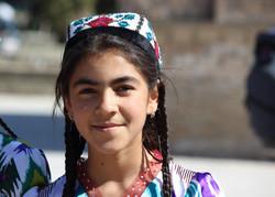 Friendly Uzbek people