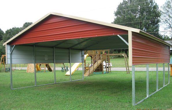Outdoor Options- Carports- Steel buildin
