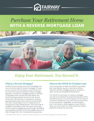 Purchase Your Retirement Home with a Reverse Mortgage
