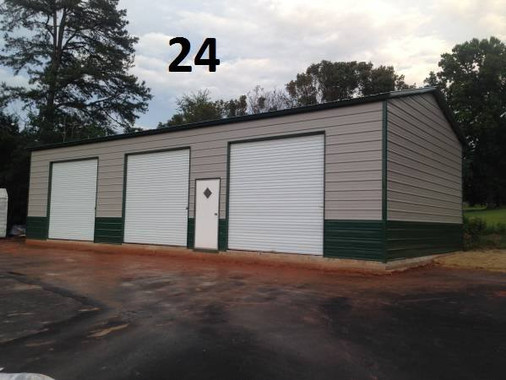 24x51x14 Side Drive 3 bay Garage with 12