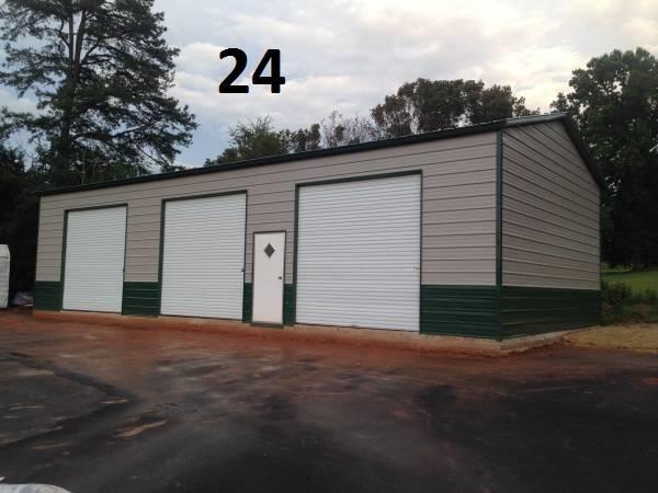 24x51x14 Side Drive 3 bay Garage with 12