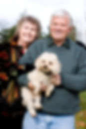 Jackie and Les with dog.jpg