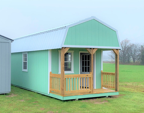 Sea Foam Green- Lofted Barn, 4ft. Deck