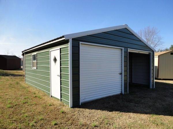 Outdoor Options- Garage with 2- 8x8 Gara