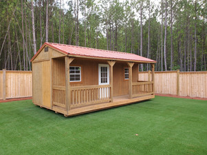 Side cabin with 4' porch