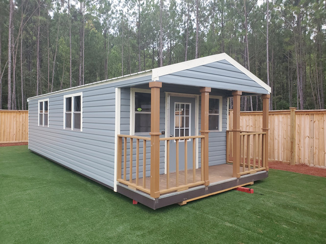 Lark Cabin, Metal Lap Siding, 4ft. Deck