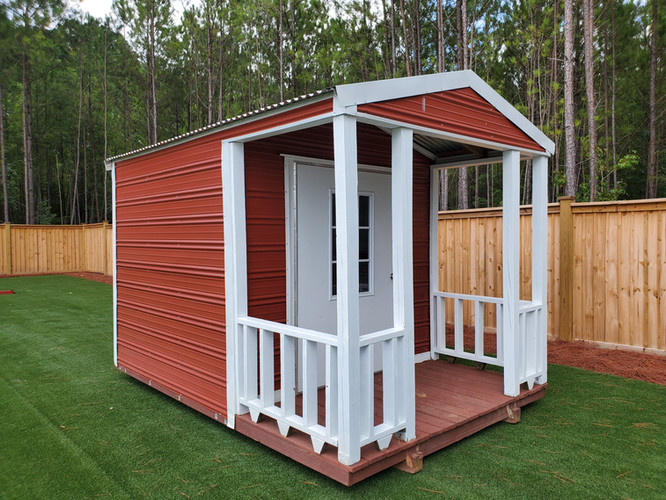 Aluminum- Cabin- Twin Rib Siding, Metal Roof